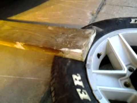 Backyard tire bead breaking