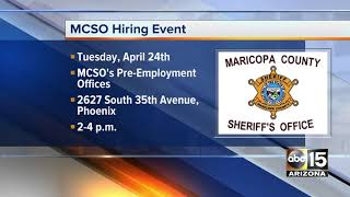 MCSO holding hiring event on April 24