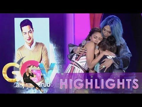 Xxx Mp4 GGV Bela Padilla Receives Warm Hugs From Vice Ganda And Kim Chiu 3gp Sex
