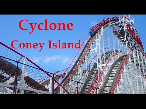 Front Seat on Historical Cyclone Coney Island Brooklyn , NY POV HD 2017