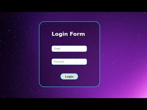 Create Transparent Login Form  With  HTML5 + CSS3 || Simple step By Step Guide