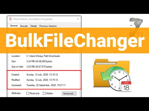 How to Change File Dates in Windows 10