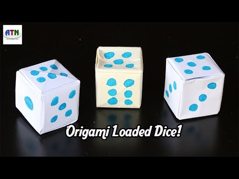 How To Make an Origami Paper Loaded Dice | Paper Dice Step by Step Instructions