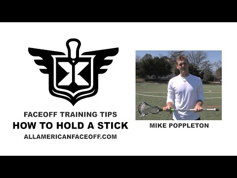 How to Hold a Stick - Lacrosse Faceoff Instruction - All American Faceoff