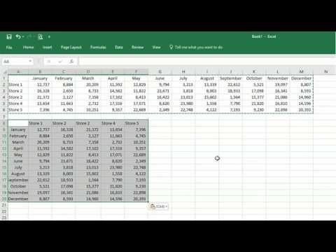 Transpose Columns and Rows in Excel 2016