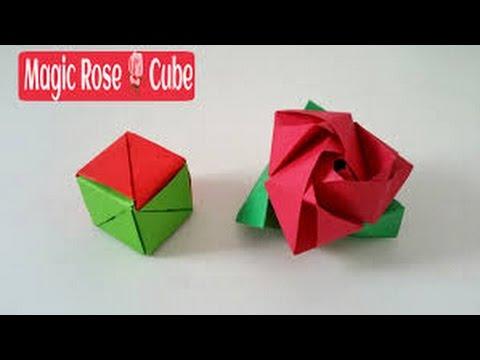 Origami Rose Cube Tutorial