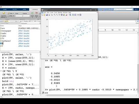 Implementing the Linear Regression in MATLAB Part 1