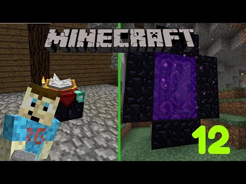 Minecraft Let's Play Part 12   Making Nether Portal and Enchanting Table