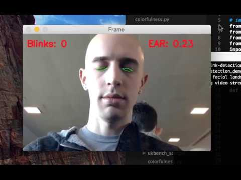 Eye blink detection with OpenCV and Python Demo #2