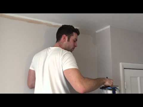How to cut-in paint. How to paint a straight ceiling line.