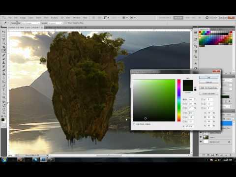 Photoshop: Speed tutorial - Floating islands (Like Avatar)