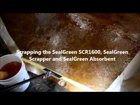 How to remove sealer or paint from a concrete floor - www.sealgreen.com - 800-997-3873