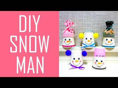 DIYㅣHow to Make a Snowman with Paper cupㅣChristmasㅣKani's DIY