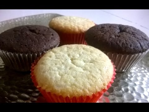 How to make delicious and moist cupcakes - easy 4in1 recipe