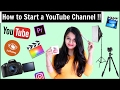 Tips to start a YouTube Channel | Complete Guide (Camera, Editing Software, Music, Backdrop)