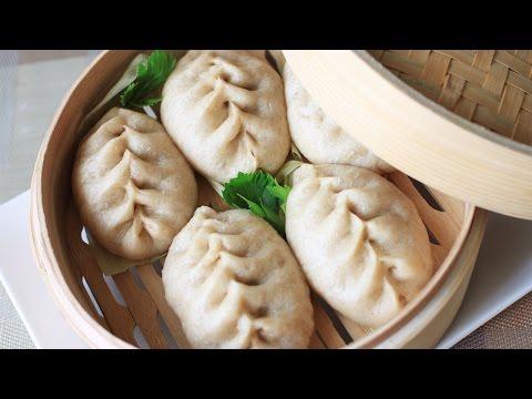 Whole Wheat Pork and Celery Buns Recipe/全麦包子