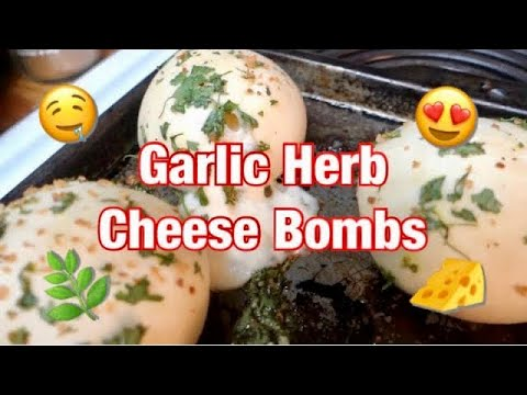 Cooking w/ Bae! - Garlic Herb Cheese Bombs   awkwardflowers_