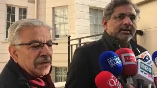 Prime minister Shahid Khakan Abbasi bashing establishment in London