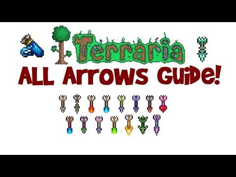 Terraria All/Best Arrows Guide! (Arrow Recipe, Arrows that Pierce & Infinite Arrows)