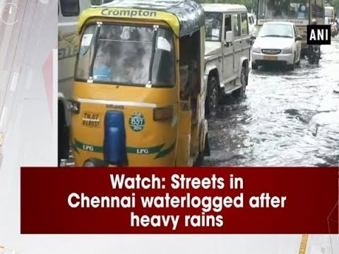 Watch: Streets in Chennai waterlogged after heavy rains - Tamil Nadu News