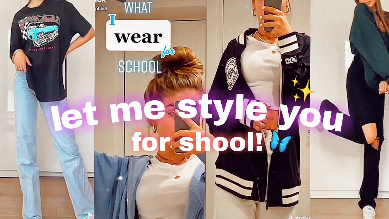 Let me style you for school 2021!!Aesthetic outfits ideas||