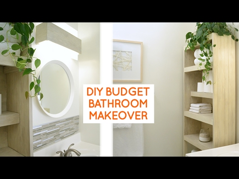 DIY small bathroom remodel: budget bathroom ideas