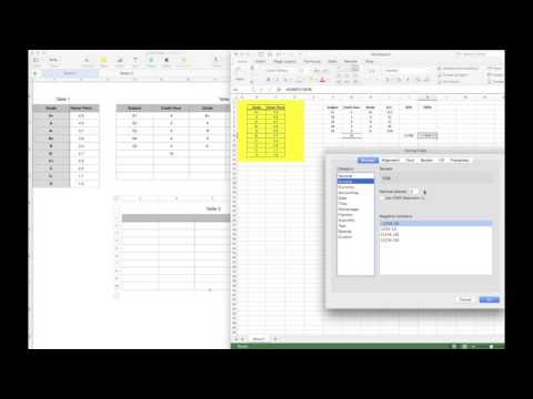 Calculate GPA and CGPA using Microsoft Excel and Apple Number