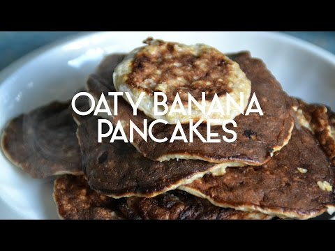 Easy Banana Pancakes with Oats - A Floral Crown