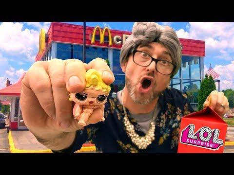 LOL SQUISHY in McDonalds Happy Meal??  DIY LOL Surprise Doll Squishies! (Sis vs Sis!)!