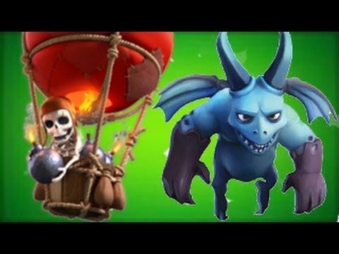 CLASH OF CLANS Balloons lvl 5 and MINIONS Attack Strategy Guide Video