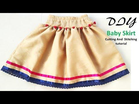 DIY Baby Skirt Cutting And Stitching  Full  Tutorial