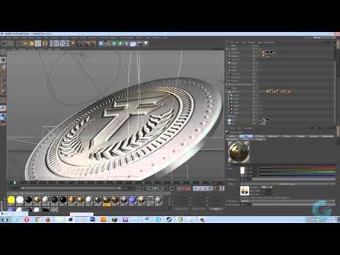 Photoshop + Cinema 4D Tutorial: Custom Coin Bevels