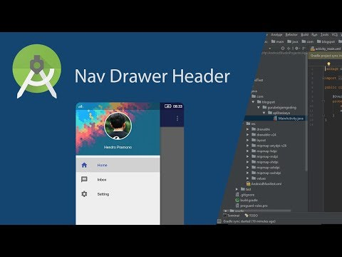 Customize Navigation Drawer Header in Android Studio