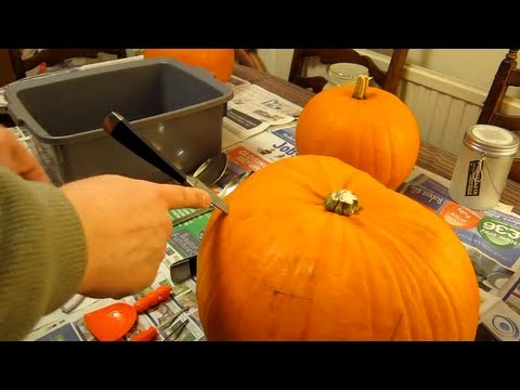 How to make a Jack O'Lantern - A detailed step by step How To Carve a Pumpkin - Halloween guide
