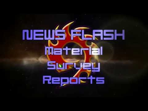 News Flash! - Material Survey Reports - AKA Material Locations in Elite: Dangerous