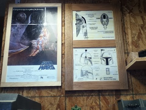 DIY:vintage looking star wars blue prints