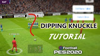 Trick To Perform Dipping & Knuckle Shot in Freekick / PES 2020 Mobile