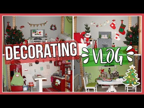 DECORATING FOR CHRISTMAS VLOG! | American Girl Dollhouse Christmas Decorating Blog