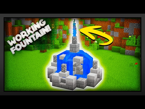 Minecraft - How To Make A Working Fountain