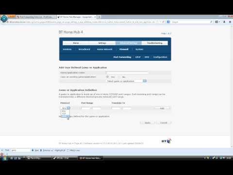 Port Forwarding Tutorial: BT Home Hub 4 (Gmod)