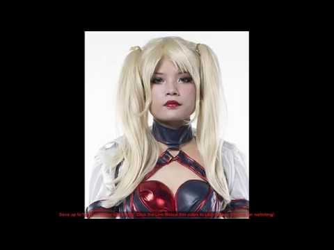 Harley Quinn Cosplay Wig And Makeup For Harley Quinn Halloween Costume