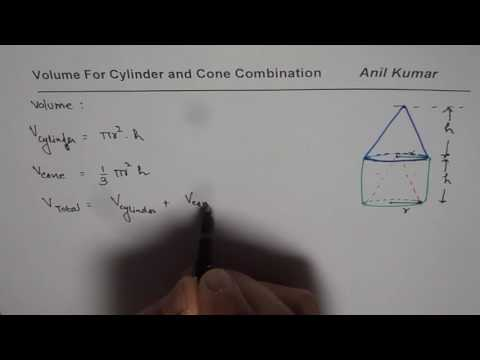 Grade 9 How to Find Volume of Cylinder and Cone Structure