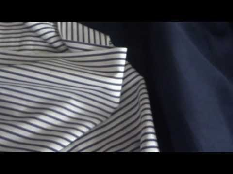 The Navy Blue Pant with White Shirt with Navy Blue Stripes | Zimba Custom Tailor