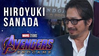 Hiroyuki Sanada joins the MCU LIVE from the Avengers: Endgame Premiere