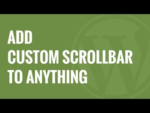 How to Add Custom Scrollbar to Any Element in WordPress