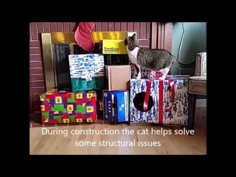 Christmas Box Kitty Cat Condo