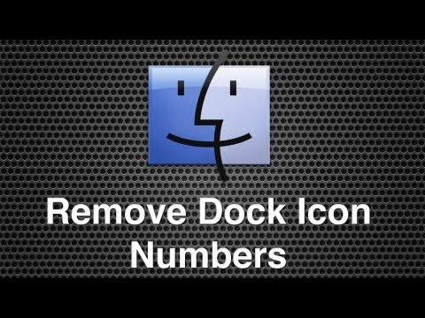 Remove Red Dock Icon Numbers In Mac OS X
