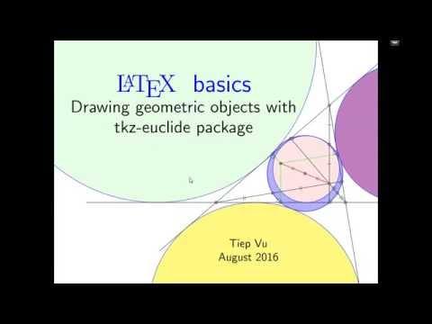 Hướng dẫn LaTeX 4.0: Drawing - Introduction to a drawing package -- Giới thiệu thư viện vẽ hình.