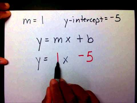 WRITE SLOPE INTERCEPT FORM GIVEN THE SLOPE AND Y-INTERCEPT - MathwithMoon.org