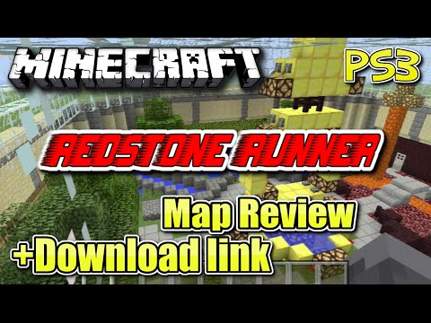 MINECRAFT - PS3 - REDSTONE RUNNER - MAP REVIEW + DOWNLOAD LINK ( PS4 )  -